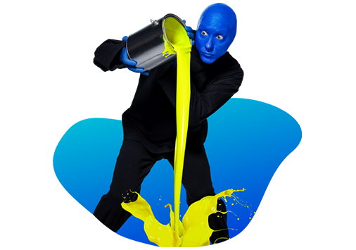 Blue Man Group Paint Bucket