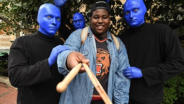 Winner of 2017 Edition Blue Man Group Drum-Off Contest
