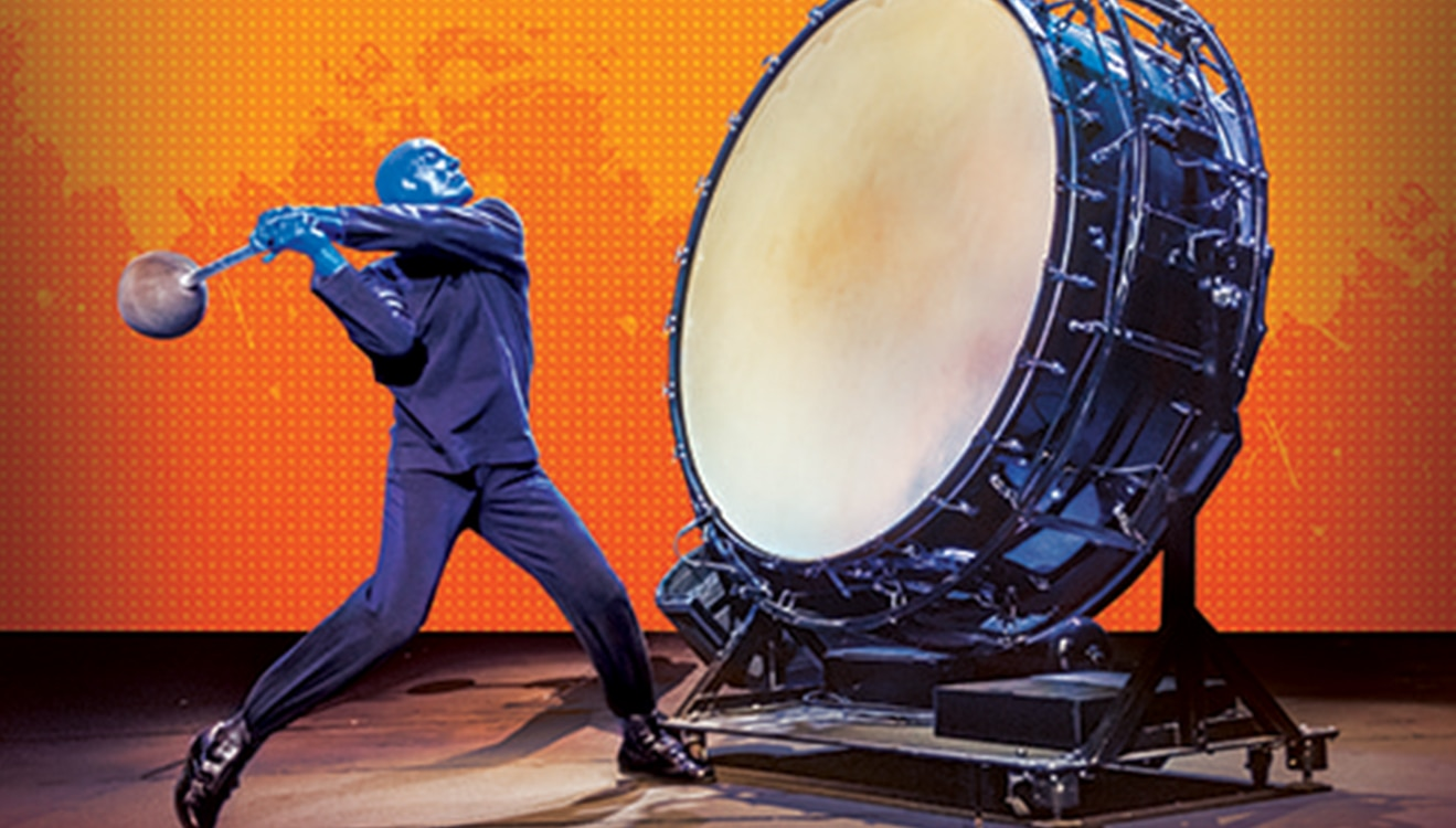 Blue Man Group big drum