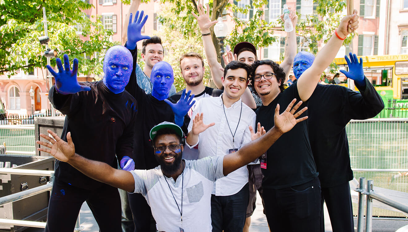 Finalists of 2016 Edition Blue Man Group Drum-Off Contest