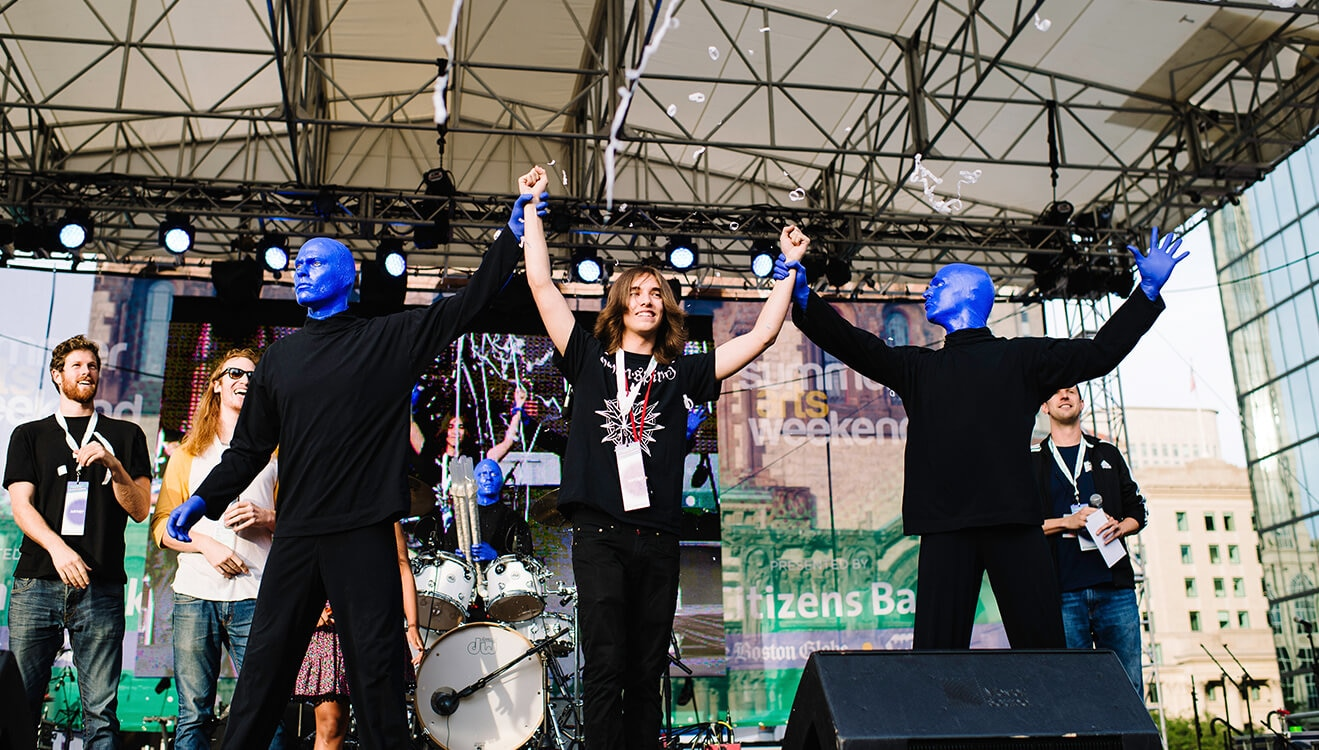 Winner of 2015 Edition Blue Man Group Drum-Off Contest