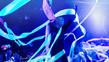 final de papel del show de Blue Man Group
